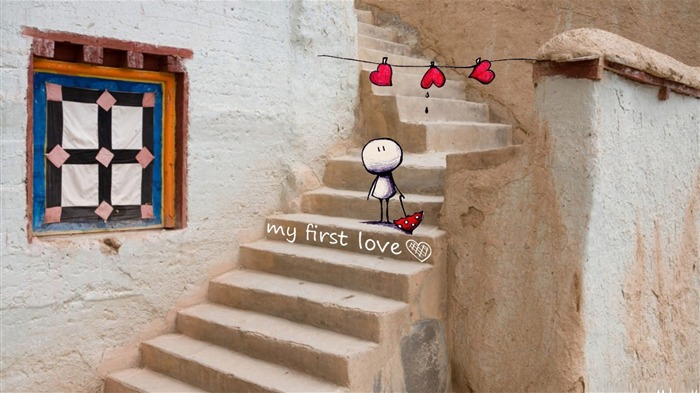 Sentimental first love-love theme desktop picture Views:2551