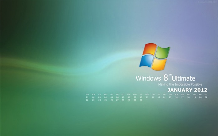 Windows 8-January 2012 calendar desktop themes wallpaper Views:9288 Date:12/31/2011 12:07:08 AM