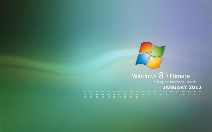 Calendar Wallpaper For Windows : Windows january calendar desktop themes wallpaper