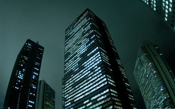 city skyscrapers night-City landscape photography Desktop Wallpaper Views:8959