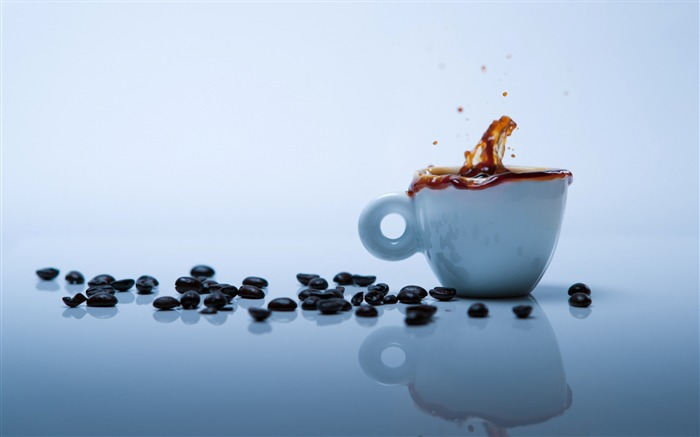 coffee splash-sweet foods Desktop Wallpaper Views:7047