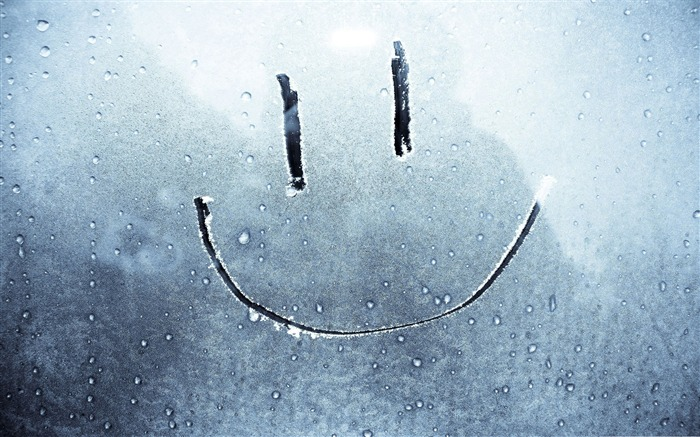 frosty smiley face-Cute funny design desktop picture Views:14812