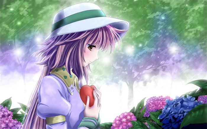 in love anime-Cartoon characters HD Wallpaper Views:14661