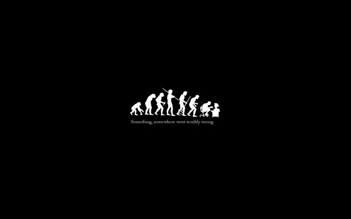 ironic evolution-Cute funny design desktop picture Views:30578