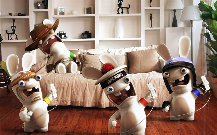 rayman raving rabbids game funny-Cute funny design desktop picture Views:7457