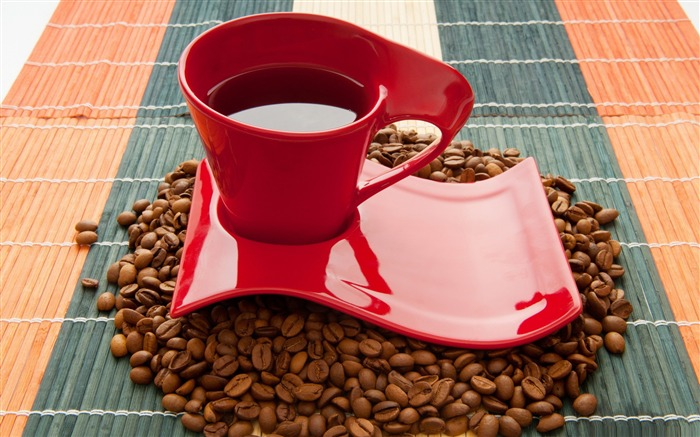 red coffee cup-sweet foods Desktop Wallpaper Views:5760