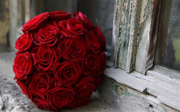 red roses wedding bouquet-Love Series Desktop Picture Views:14430