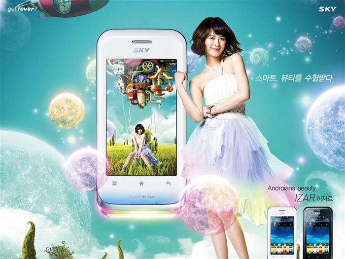 South Korean SKY mobile advertising wallpaper Views:15154