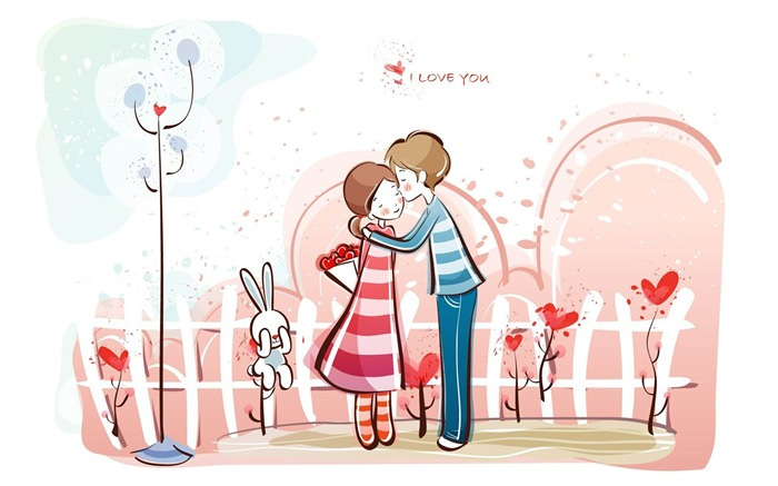 Romantic Valentines Day Vector wallpaper album-second series Views:20070