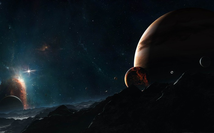 planet close to jupiter-Space Photography Desktop Wallpaper Views:12121