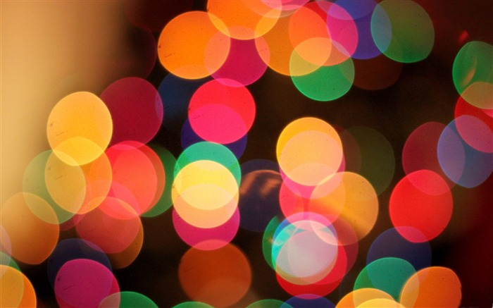 the first bokeh of christmas-Dream glare colorful design theme wallpaper Views:6087