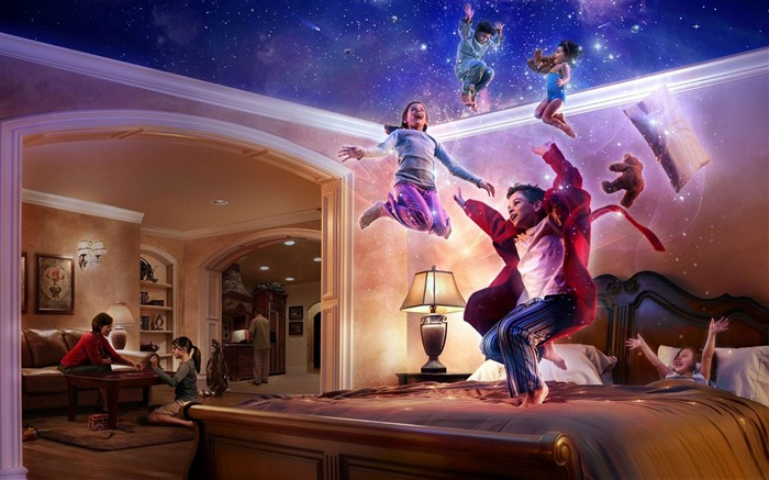 the magic of childhood-Creative Design Wallpaper Views:3778