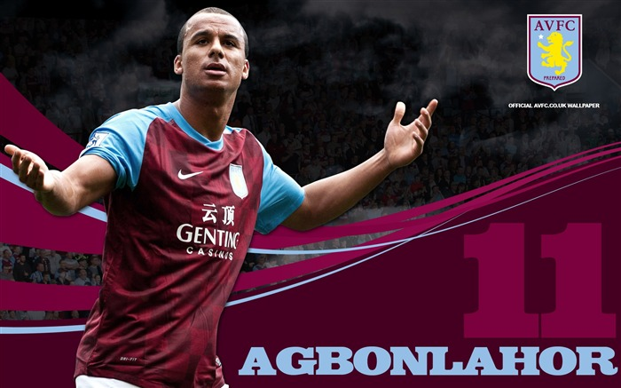 Ace Agbonlahor loved by Villa-Aston Villa football club HD desktop wallpaper Views:4754
