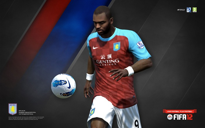 FIFA12 Darren Bent-Aston Villa football club HD desktop wallpaper Views:5690