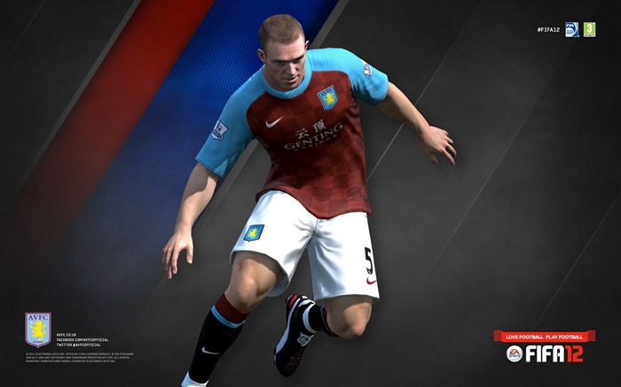 FIFA12 Richard Dunne-Aston Villa football club HD desktop wallpaper Views:4673