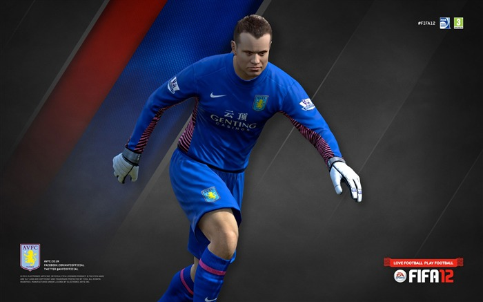 FIFA12 Shay Given-Aston Villa football club HD desktop wallpaper Views:4782