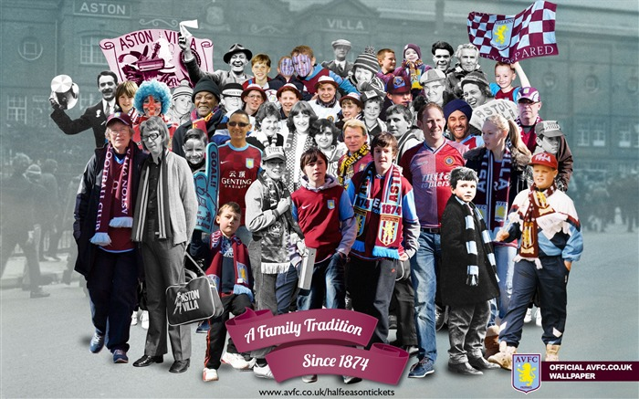 Fantastic montage-Aston Villa football club HD desktop wallpaper Views:6084