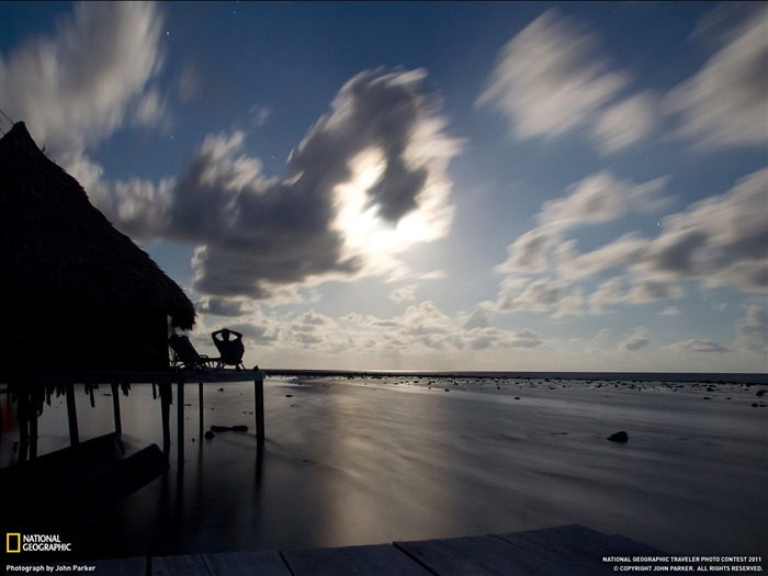 Moonrise Caribbean Sea-National Geographic Travel Photos Views:3061