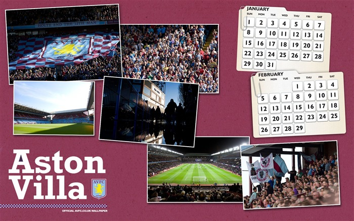 Villa calendar 2012-Aston Villa football club HD desktop wallpaper Views:3933