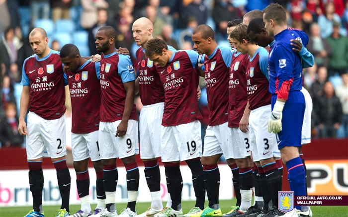 Villa stars remember the fallen-Aston Villa football club HD desktop wallpaper Views:4597