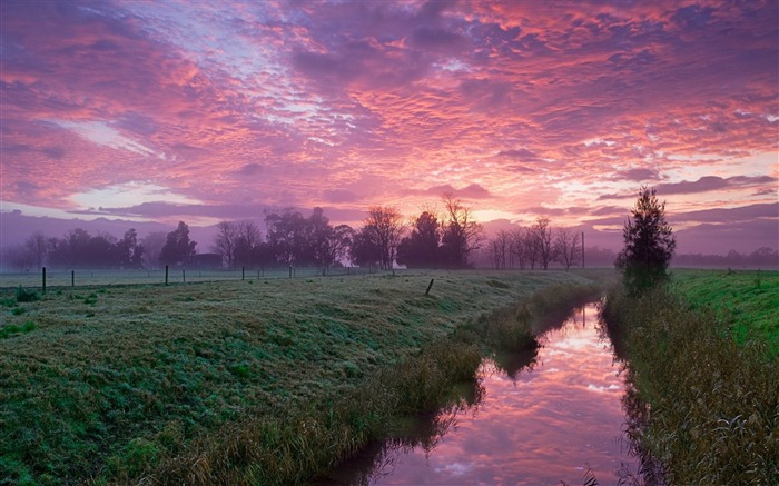 cold morning-Beautiful river landscape photography Views:5877