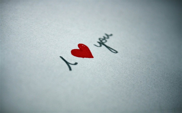 i love you written on paper-Valentines Day theme desktop picture Views:8844