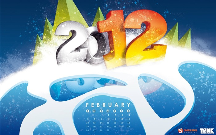 February 2012 calendar desktop themes wallpaper Views:8159