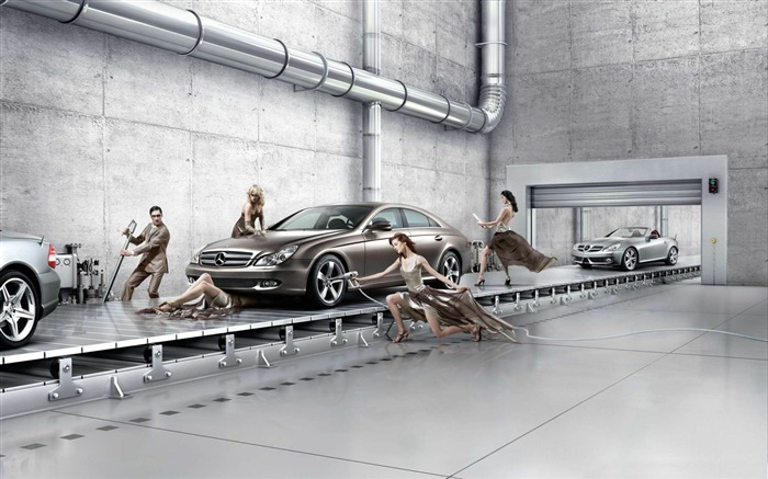 mercedes benz assembly line-Photoshop Creative Design picture Views:8273