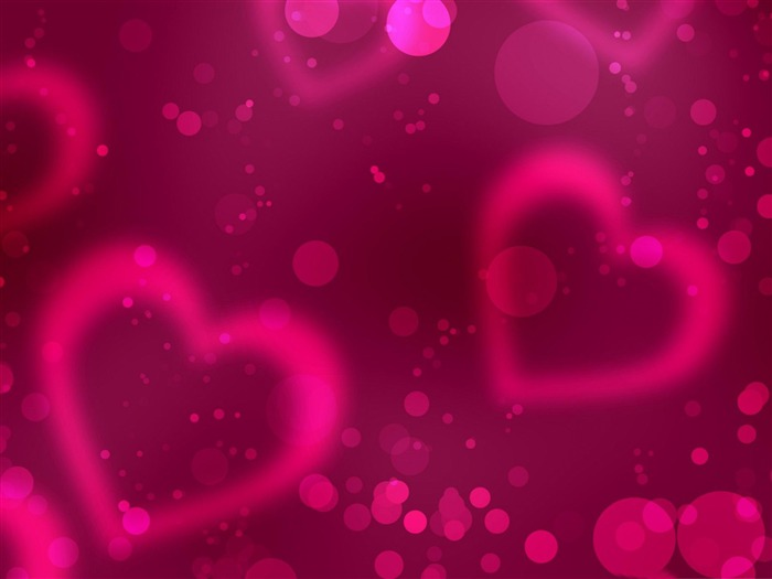 pink Love such as air-Happy Valentines Day theme desktop wallpaper Views:8168