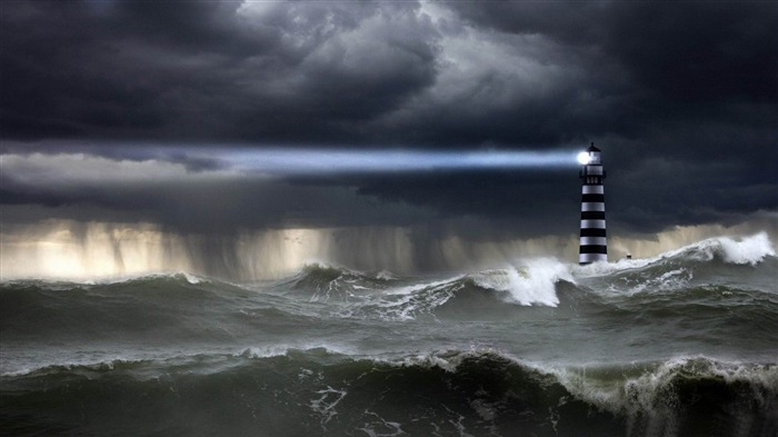 sea storm-PS creative theme design pictures Views:38100