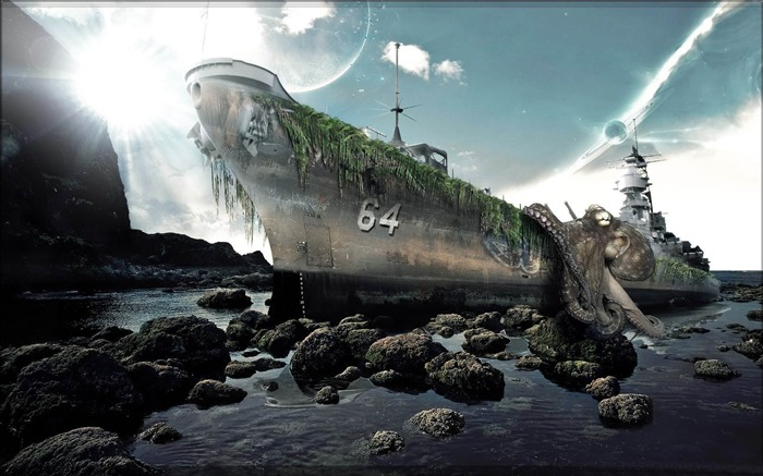 shipwreck-PS creative theme design pictures Views:6686