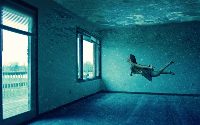 underwater room-PS creative theme design pictures Views:15643