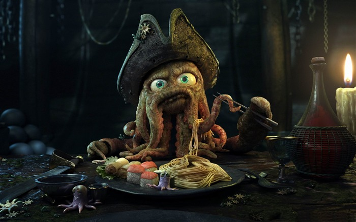 Davy Jones-3D creative design wallpaper Views:8249