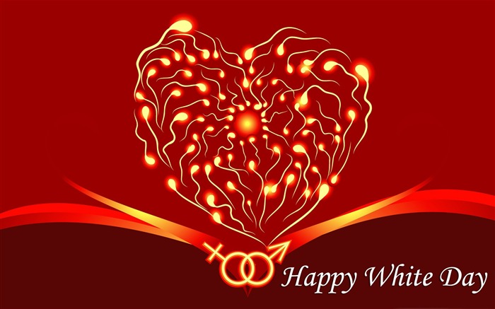 Happy White Day theme Desktop wallpaper Views:16413