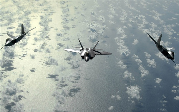 Lockheed Martin F 22 Raptor-military aircraft wallpaper Views:14893