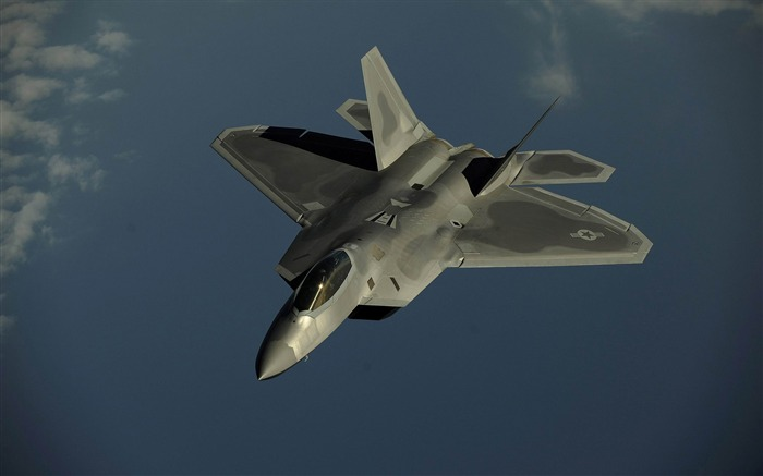 Lockheed Martin F 22 Raptor 01-military aircraft wallpaper Views:13837