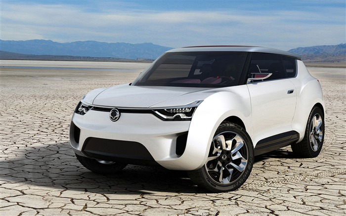 White SsangYong XIV-2 Concept  HD Wallpaper Views:5015
