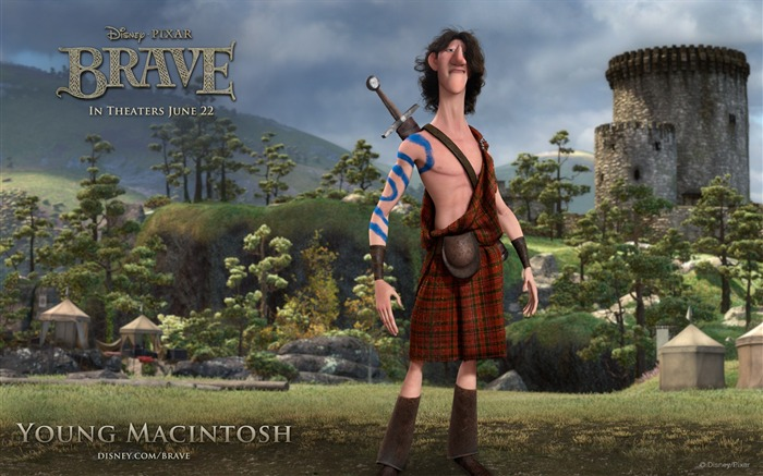 YOUNG MACINTOSH-Brave 2012 HD Movie Wallpaper Views:5898