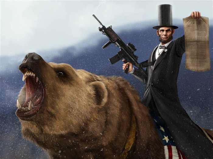 abraham lincoln-3D creative design wallpaper Views:5699
