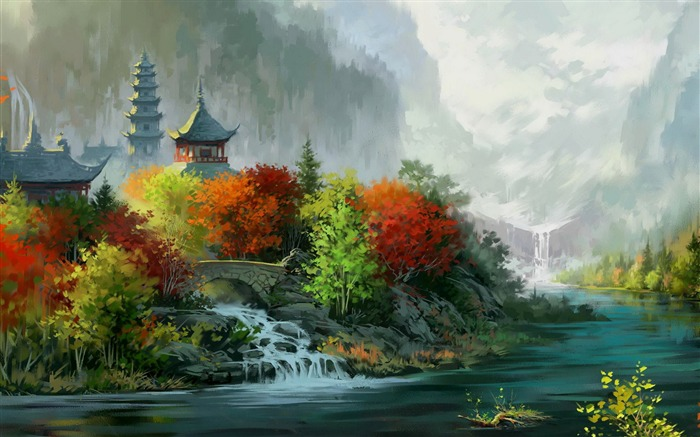 autumn colors-Amazing Artistic Painting Wallpaper Views:7369