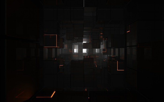 black cubes-3D creative design wallpaper Views:26043