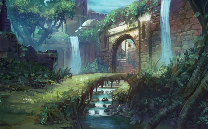 castle path-Amazing Artistic Painting Wallpaper Views:14160
