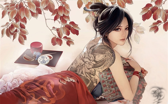 classical women-Amazing Artistic Painting Wallpaper Views:17444