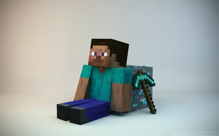 minecraft guy-3D creative design wallpaper Views:86762