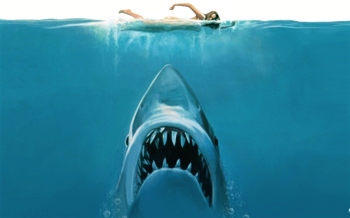 shark attack-Amazing Artistic Painting Wallpaper Views:25169