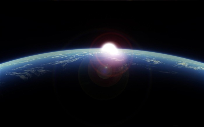 sunrise from space-Space exploration secret wallpaper Views:26564 Date:3/4/2012 9:43:44 PM