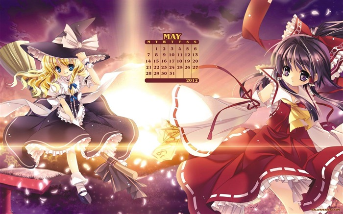 Anime Witche-May 2012 calendar wallpaper Views:6235