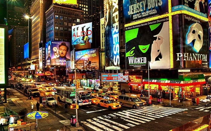 Broadway New York-Urban Landscape Wallpaper Views:48623