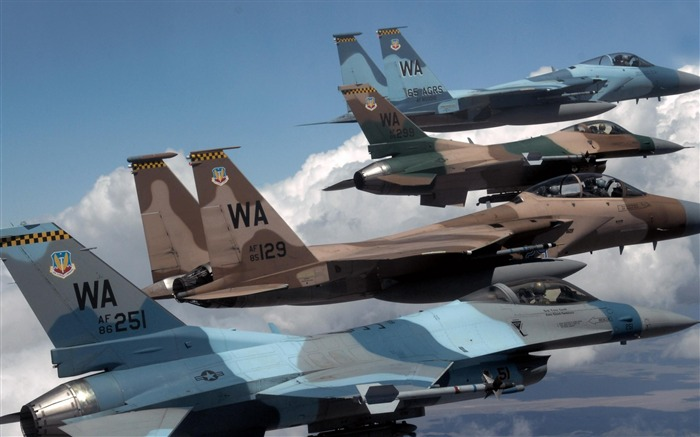 F16S F18S-Military aircraft wallpaper Views:4590