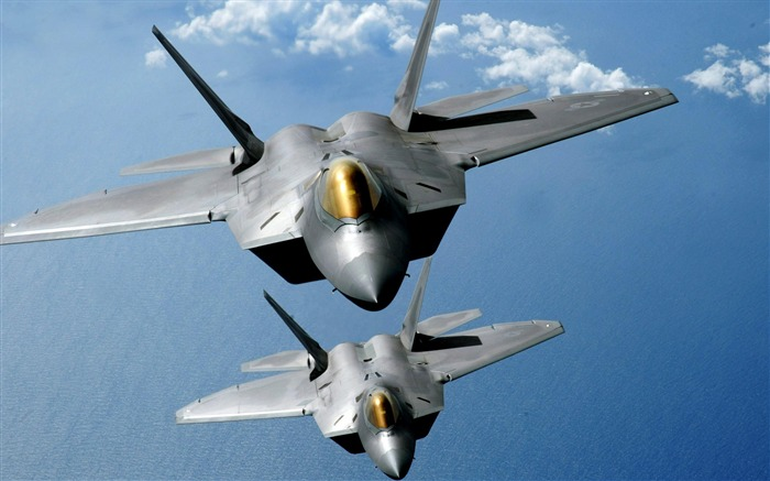 F 22 raptors-Military aircraft wallpaper Views:8042